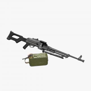 Machine Gun PKM Ammunition Box Detached 3D model
