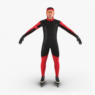 3D model Speed Skater Generic
