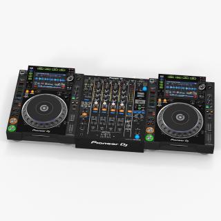 3D Professional DJ Media Player and Mixer Pioneer