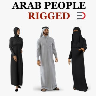 3D Arab People Collection 2 Rigged