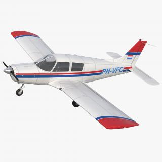 3D model Piper PA-28 Cherokee