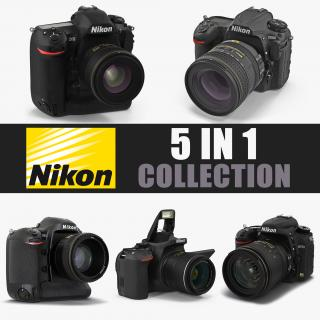 3D Nikon Cameras Collection 2