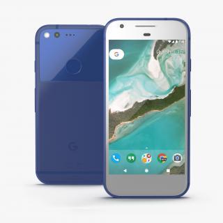 3D model Google Pixel Phone Really Blue