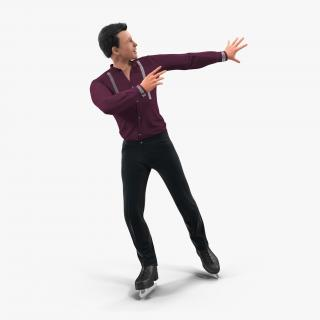 3D model Male Figure Skater Pose 2