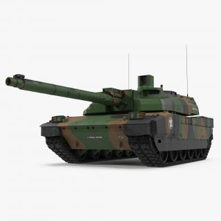 3D AMX-56 Leclerc French Main Battle Tank model