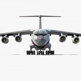 3D Ilyushin Il-76TD S Civilian Mobile Hospital model