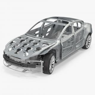 Tesla Model S and Frame Collection 3D model