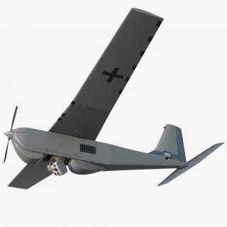 3D model Remote Controlled UAS RQ 20B Puma Rigged