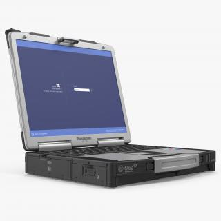 3D Panasonic Toughbook Rigged