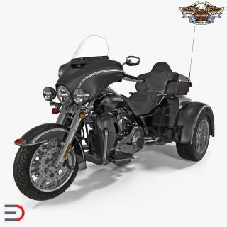 3D model Harley Davidson Tri Glide 2016