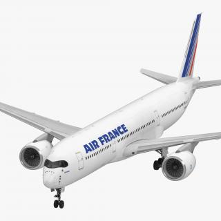Airbus A350-900 Air France Rigged 3D Model 3D