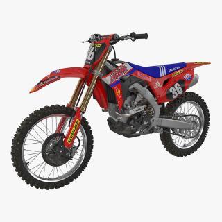 3D Motocross Bike Honda CRF250R 2018 model