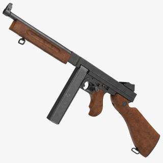 Submachine Gun Thompson M1A1 SMG 3D