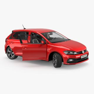 Volkswagen Polo 2018 Rigged 3D