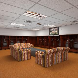 3D model Baseball Locker Room