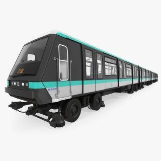 3D Paris Subway Train MP 05 Rigged
