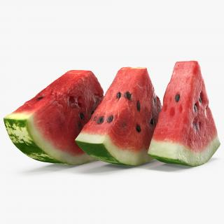 3D Sliced Watermelon Collection model