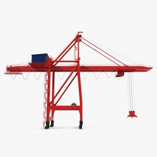 3D Ship to Shore Crane Rigged