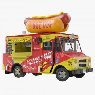 3D model Hot Dog Truck Rigged