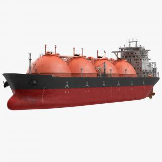 Gas Carrier Ship Generic 3D model