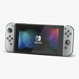 3D Nintendo Switch with Gray Joy Con model