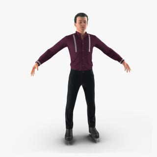 3D Male Figure Skater model