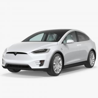 3D Tesla Model X 100D 2017 model