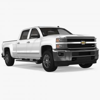 3D model Chevrolet Silverado 2015 Simple Interior