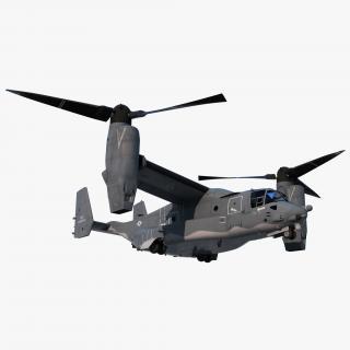 V-22 Osprey Transport Aircraft Rigged 3D