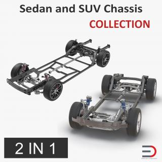 Sedan and SUV Chassis Collection 3D