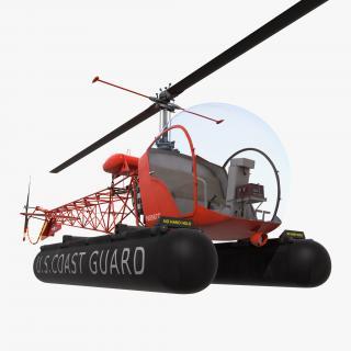 Bell 47 On Floats uscg 3D