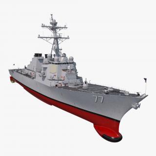 3D Arleigh Burke Destroyer OKane DDG-77 Rigged model