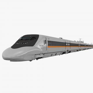 Bullet Train Rail Star Rigged 3D model
