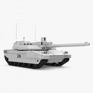 Tank AMX-56 Leclerc United Nations 3D model