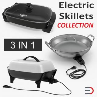 3D Electric Skillets Collection model