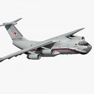 3D model Ilyushin Il-76TD-S Civilian Mobile Hospital Rigged
