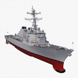 3D Arleigh Burke Destroyer Higgins DDG-76 model