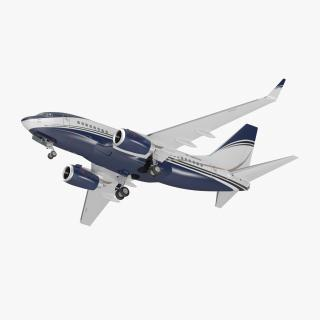 3D Boeing 737-600 with Interior Generic Rigged model