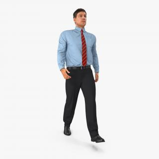 3D Office Worker Walking Pose