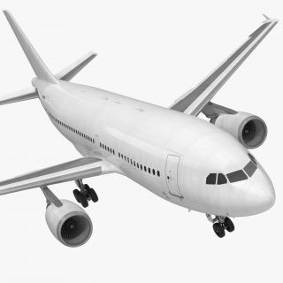 3D model Airbus A310-300 Generic Rigged