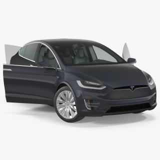 Tesla Model X 60D 2017 Rigged 3D model