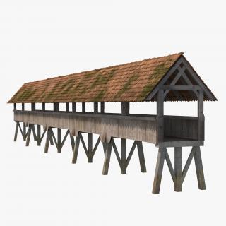Wooden Footbridge 3D
