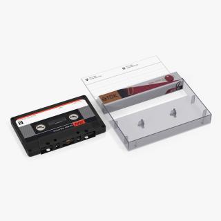3D Audio Cassette Tape with Box model