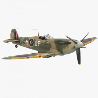 Supermarine Spitfire Rigged 3D