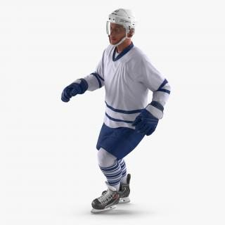 3D model Hockey Player Generic 4 Rigged