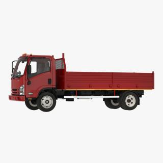 3D Dropside Truck Generic Simple Interior model