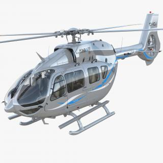 Corporate Transport Helicopter Airbus H145 Rigged 3D model