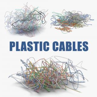 Colorful Plastic Cables Collection 3D model