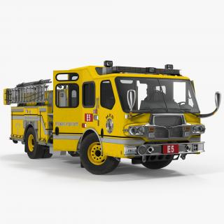 3D Fire Apparatus E-One Quest Wyoming Rigged