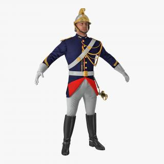 3D French Republican Guard in Traditional Uniform
